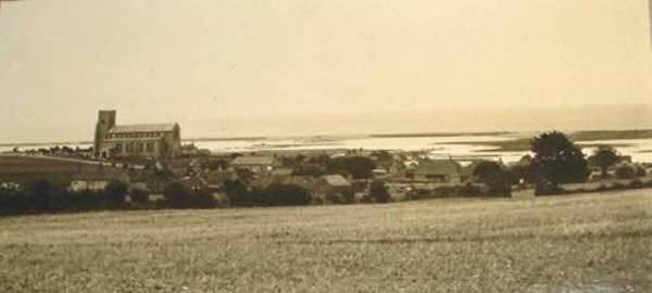 from the field called Bloomstiles, the church and the marsh c. 1910