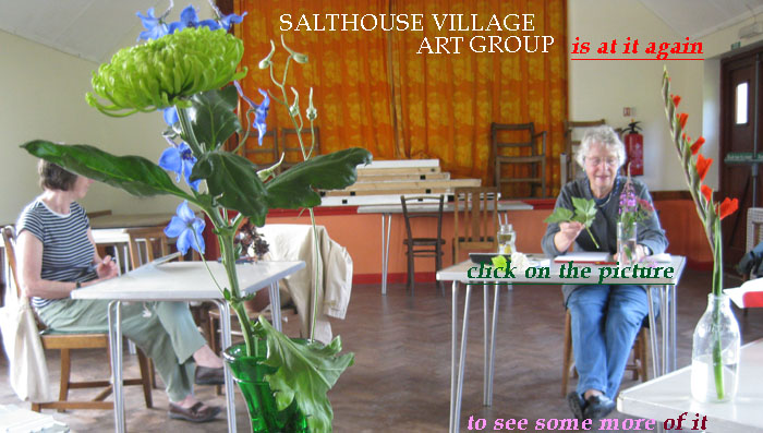 The fourth meeting of the Salthouse Village Art Group