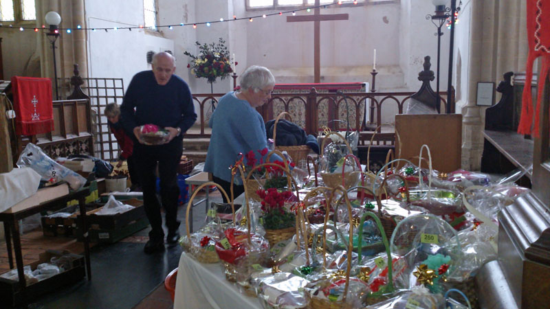 Fank and Annette's tombola with baskets