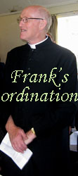 Frank's ordination