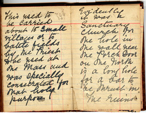 The notebook of the Rev Hermitage 1930