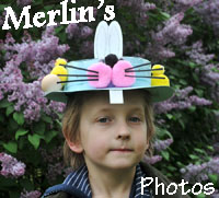 click to go to Merlin's photos of Winnie's Easter in the gardens of Salthouse Hall