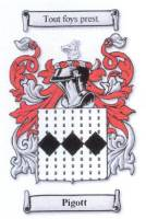 Pigott family coat of arms from www.houseofnames.com