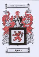 Spence family crest from www.houseofnames.com