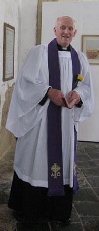 the Rev Frank Clarke who took the service