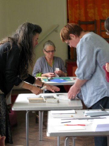 Sally Lawford's photos of the Book-binding workshop '09
