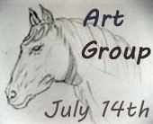 click on virginia's horse to see art group 14th july