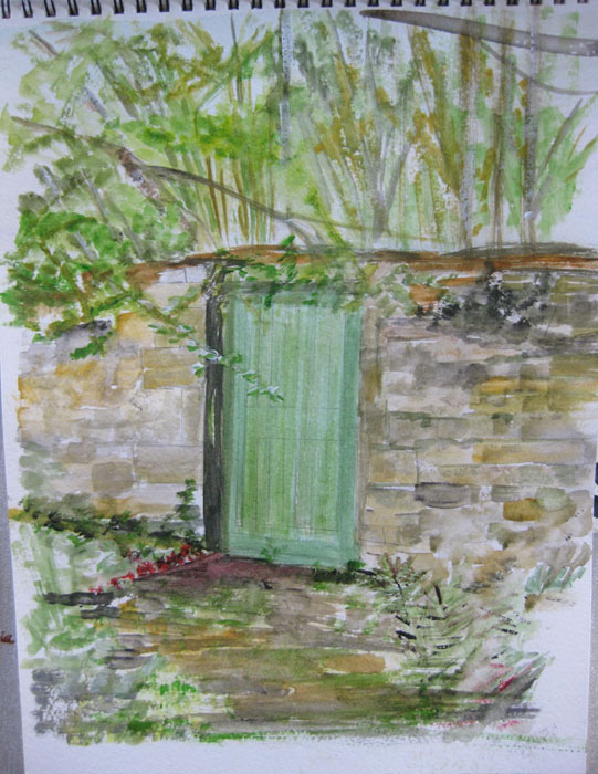 Sarah's mysterious Green Door started last week now finished