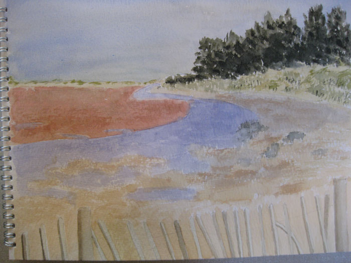 Edna's last week's Holkham beach finished