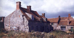 three cottages and the crab shop from the east
