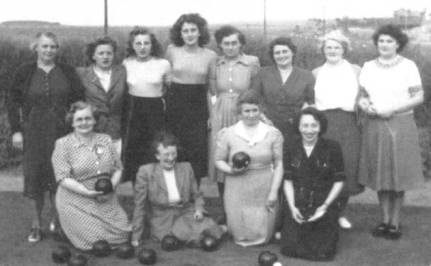 The Ladies of the 1940s Ladies Bowls Club