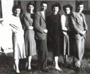 the six Browns: Vera, Norah, Russell, Phyllis,Joan and Kenneth