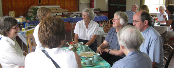 the August Coffee/Gossip morning in Salthouse