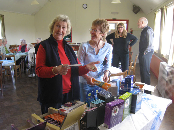 Shirley and Sue at the Traid Fair stall