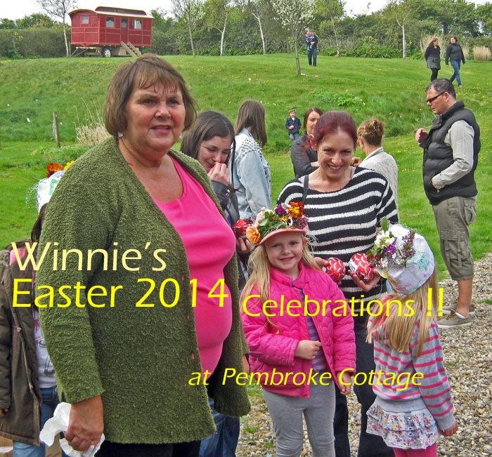Winnie put on her usual splendid Easter Egg hunt and Easter bonnet competition
