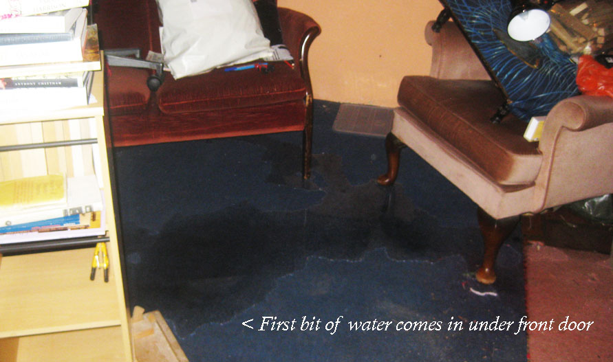 water bubbling up through front door meaning business!