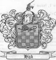 High family coat of arms supplied by Fred High