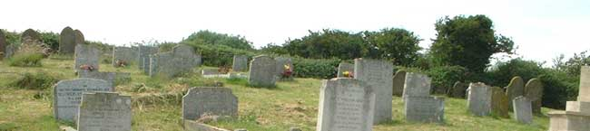 A part of the graveyard to the south west of Salthouse church