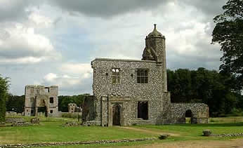 The keep of Baconsthorpe castle built by Henry Heydon