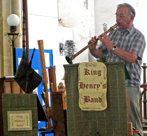 click on this to see pictures of King Henry's Band in Salthouse Church Aug 9th