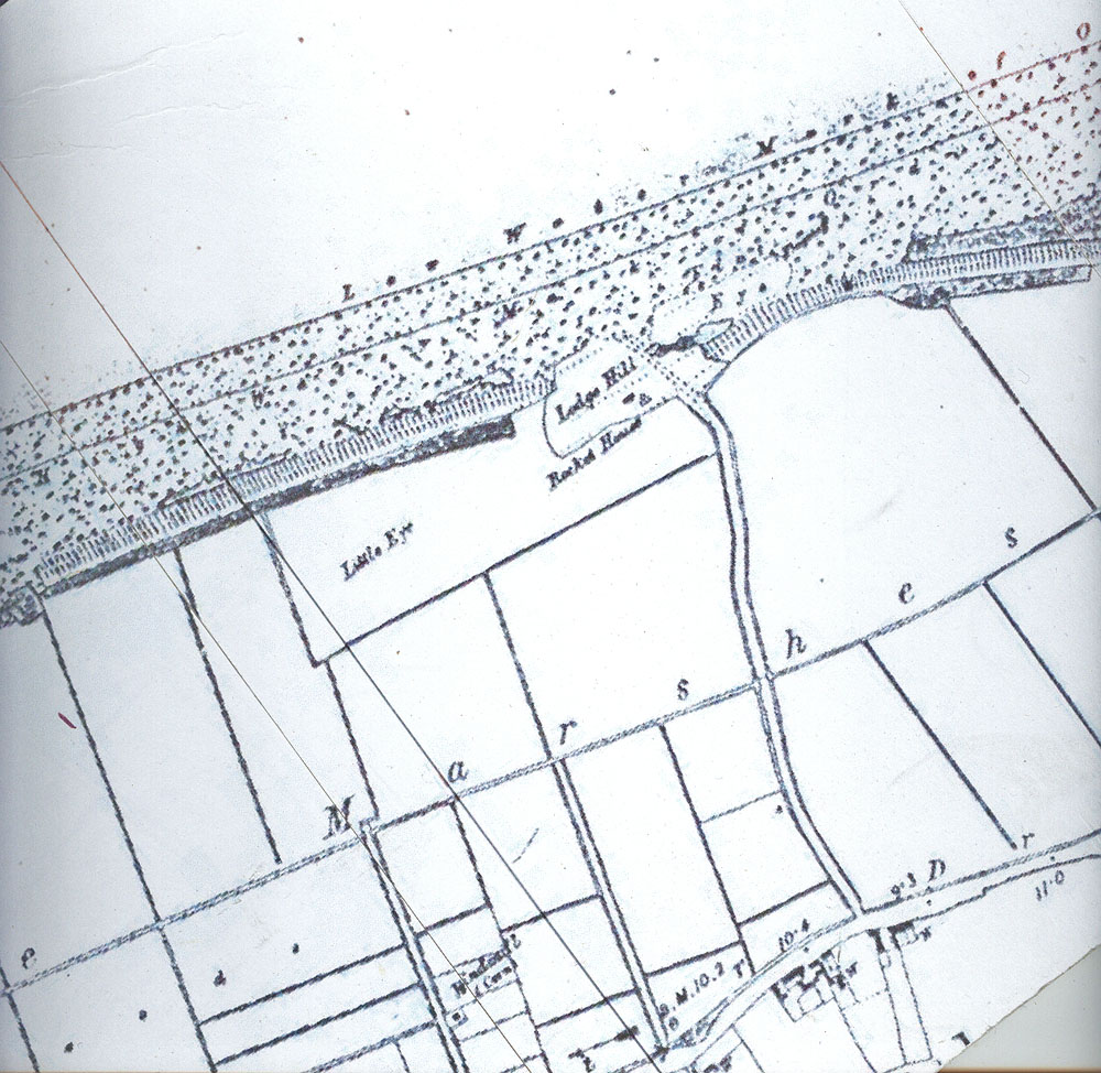 map c.1930 showing the location of the Rocket house at the end of Beach Road where we began our walk