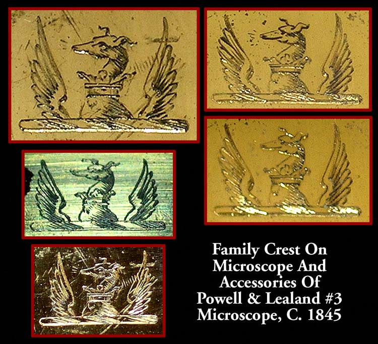Dix Family Crest from a microscop c. 1845
