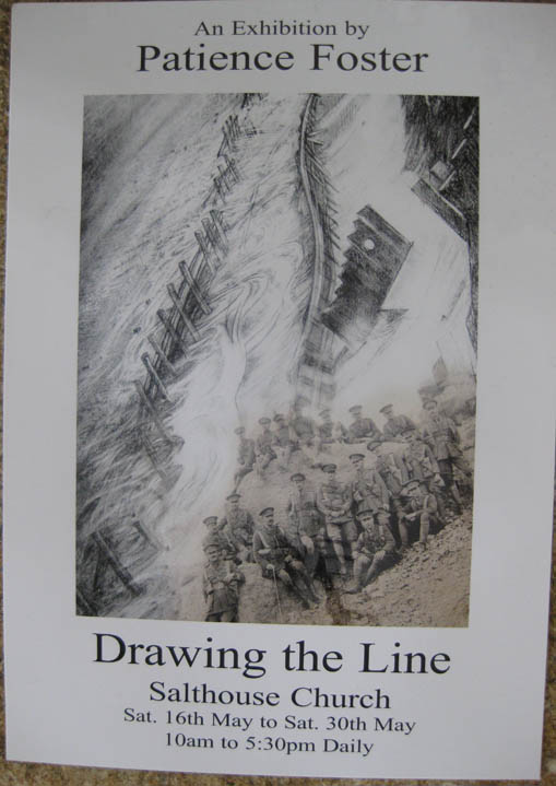 'Drawing the Line' Exhibition by Patience Foster, Salthouse Church 16th - 30th May2009
