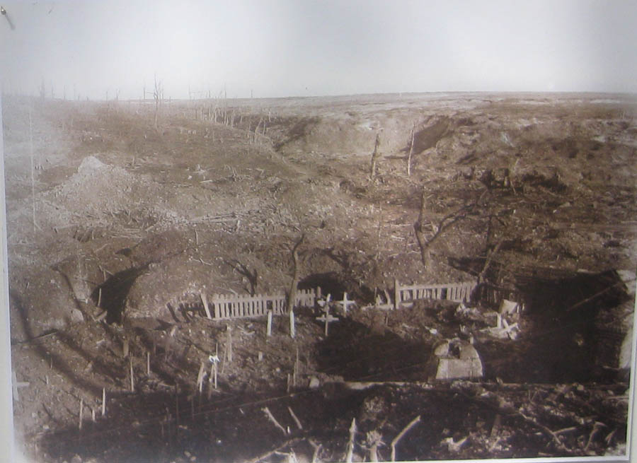 another photo of the devastation at the Somme taken by Major Foster during WW1