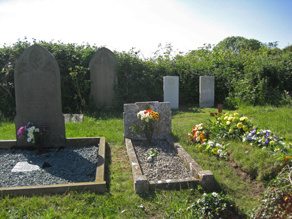 3 graves- Phyllis' Grandfather Levi High , her Mother Evangeline and father Charles Brown, lie beside Phyllis' grave.