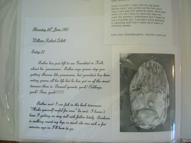 a page from the album