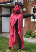one of the scarecrows to be judged on Sunday